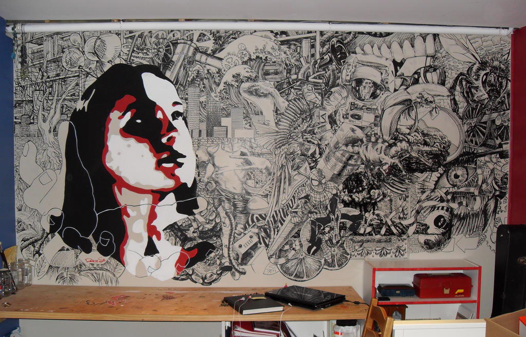 Bedroom wall mural by jollypickle on deviantart for Bedroom mural painting