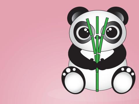 Pink Panda By Froggiechick345