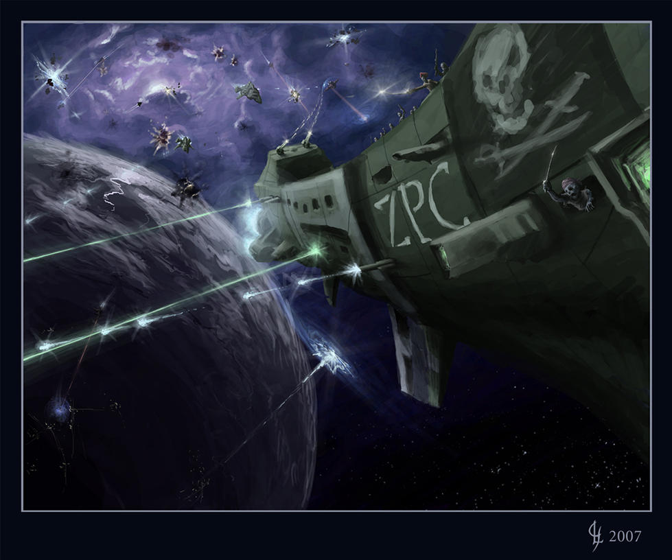 Space Pirate Zombies by GenjiLim
