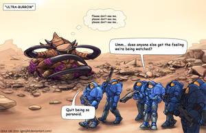 Ultralisk Burrowing Comic by GenjiLim