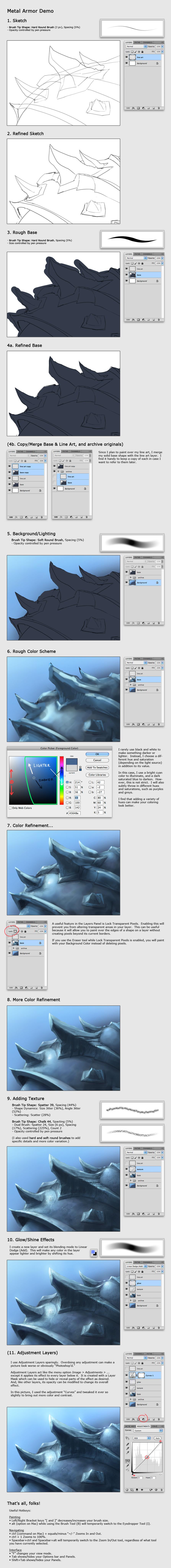 Metal Armor Tutorial by GenjiLim