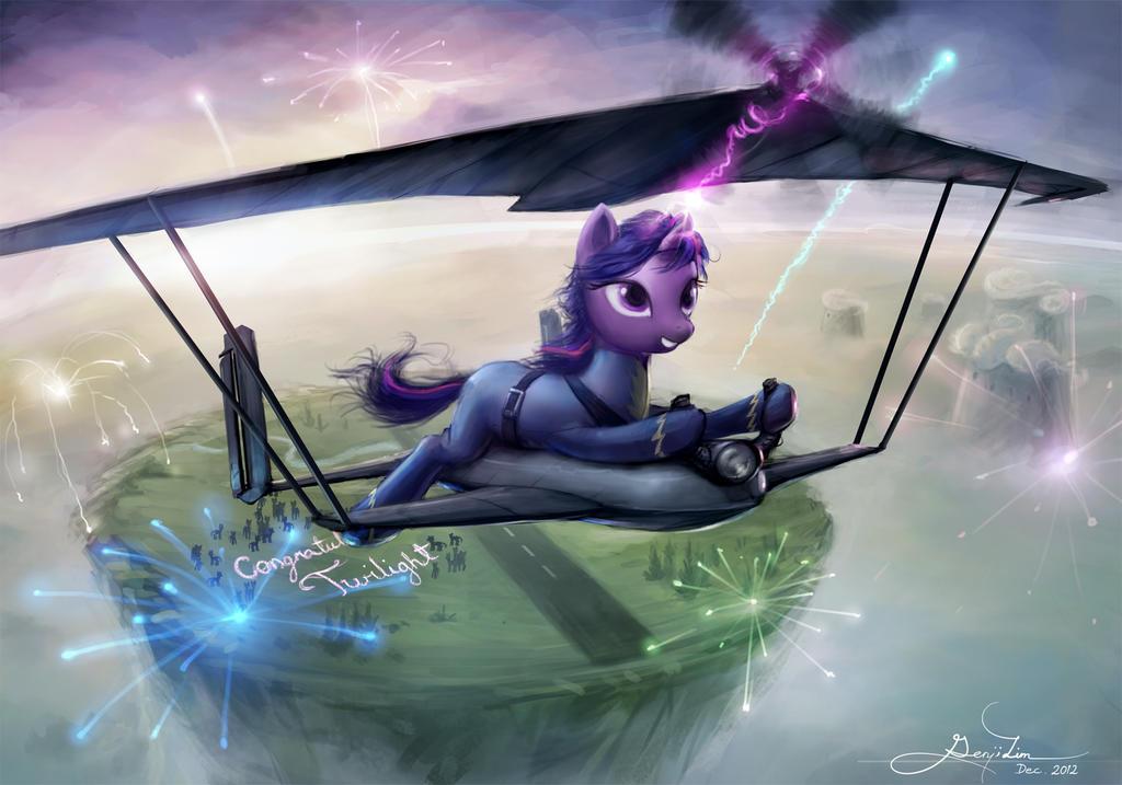 Wonderbolt Twilight by GenjiLim