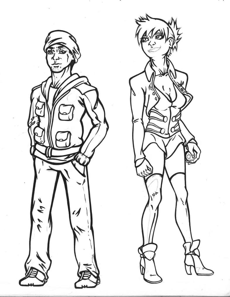Character Design Engine : Misty and akiel tornement character design by comic engine