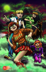 The Scooby Gang colored by Comic-Engine-Alex