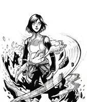 Inktober day 3 Korra by Comic-Engine-Alex