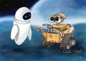 WALL-E and EVE by cek-cek