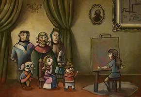 The Recording of the History of Hyrule by BriMercedes
