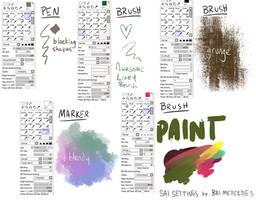 Bri's Paint Tool SAI Brush Settings
