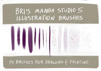Brushes - Manga Studio 5 / Clip Studio Paint by BriMercedes