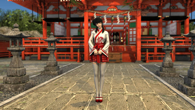 Miko, A Shrine Maiden in The City
