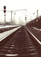 Railway station, Iasi, Romania by vladcoroeanu