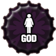 Bottlecap: God by Petrus-Emm