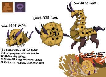 Pokemon Variante-(012) Venipede-Whirlipede-Scolipe by emiliano-roku