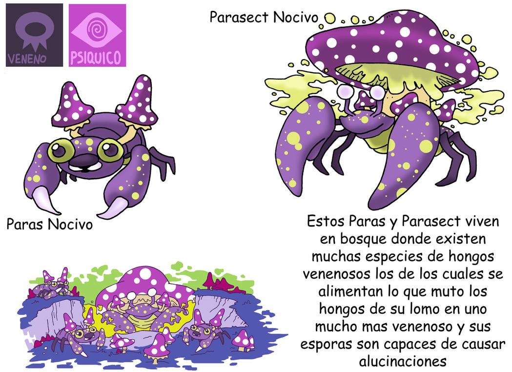 Pokemon Variante-(019) Paras-Parasect by emiliano-roku