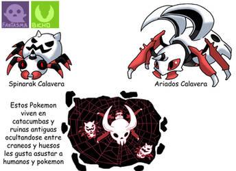 Pokemon Variante-(021) Spinarak-Ariados by emiliano-roku