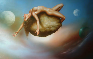 levitating woman by jcwidall