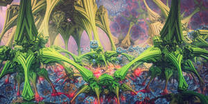 Trip on the Brain Network by FractalGods
