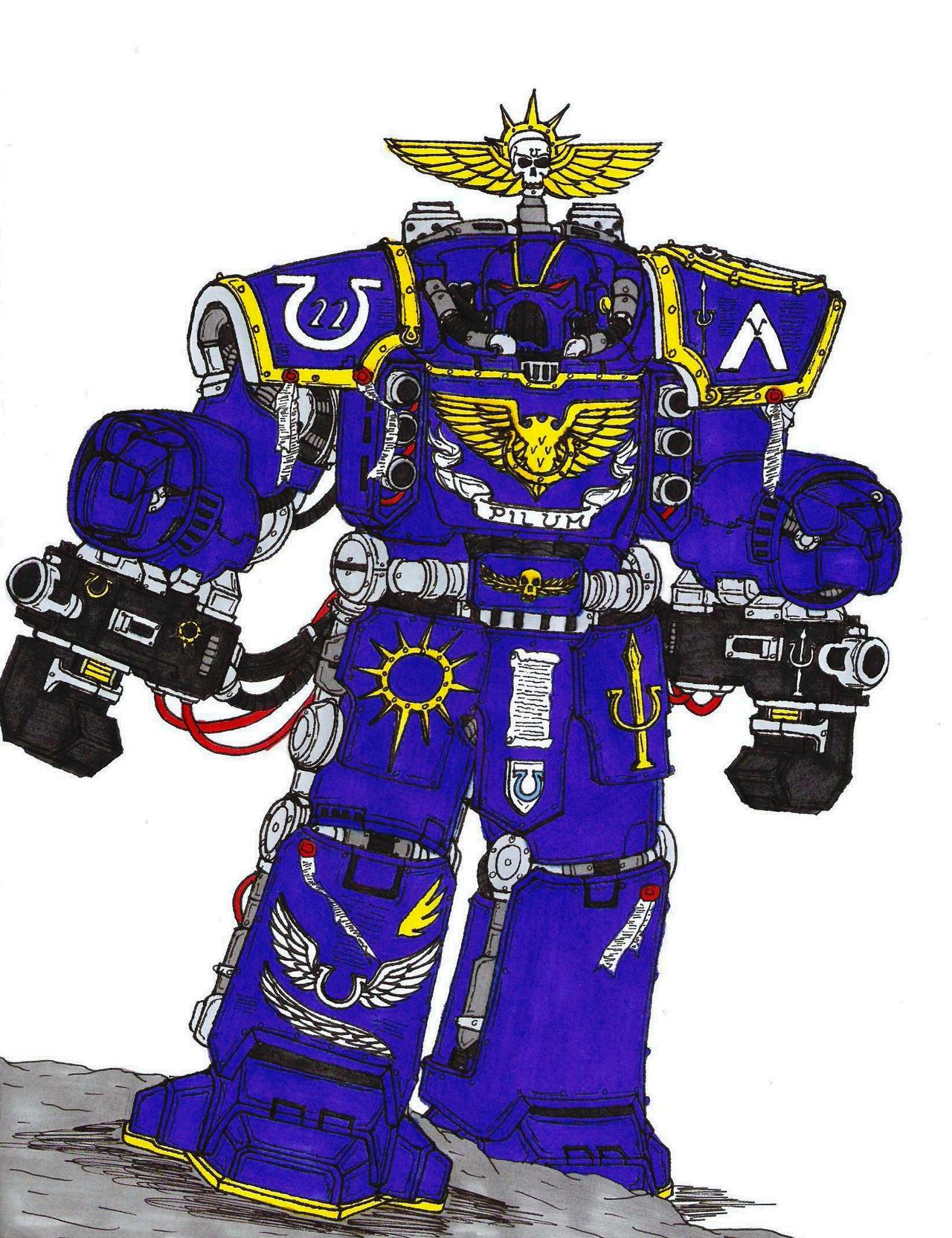 Centurion, 22nd Company Ultramarines by terraluna5