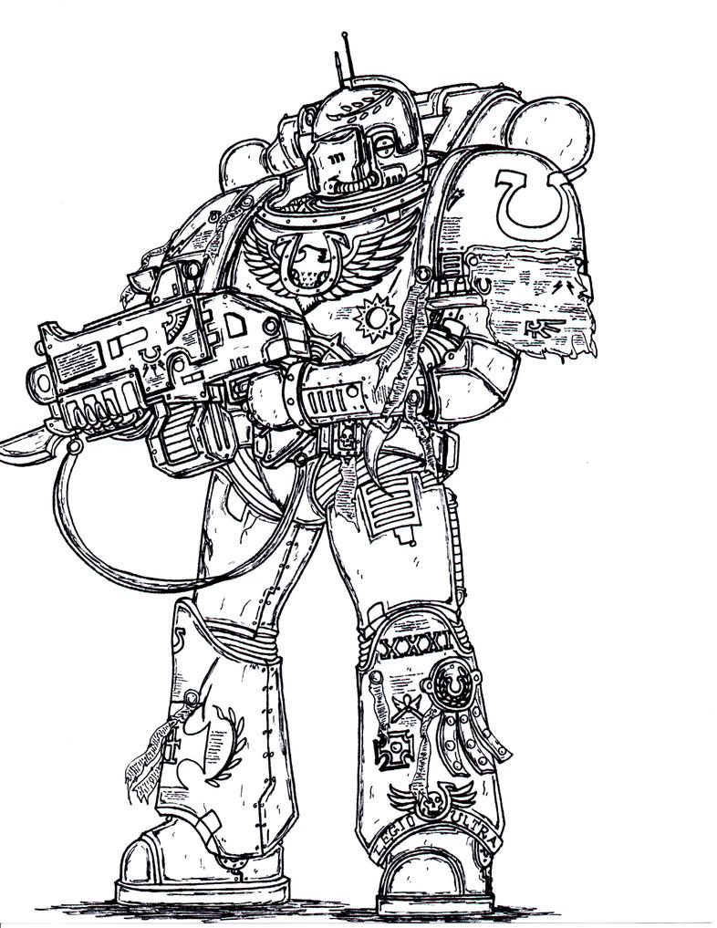 Sternguard Veteran, XIII Legion Astartes by terraluna5