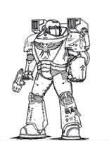 Mark XVI Damocles Power Armor by terraluna5
