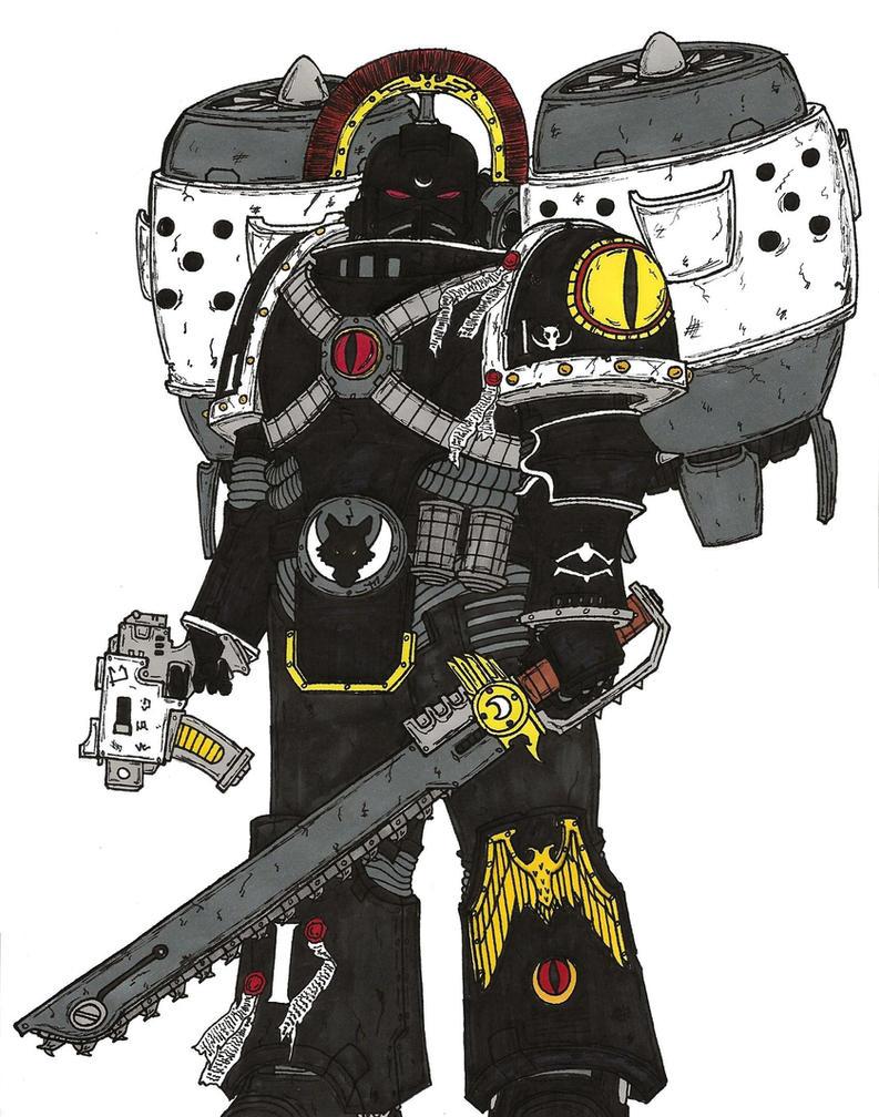 Kalus Ekaddon, Captain, Catulan Reaver Squad by terraluna5