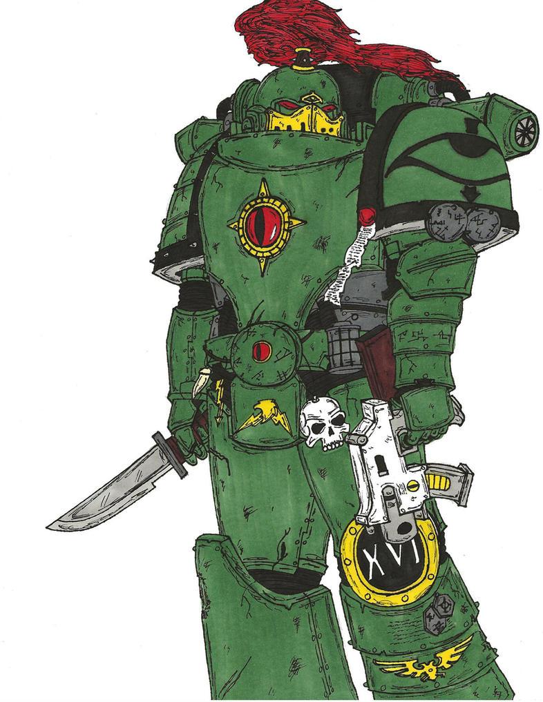 Tactical Marine, Sons of Horus Legion by terraluna5