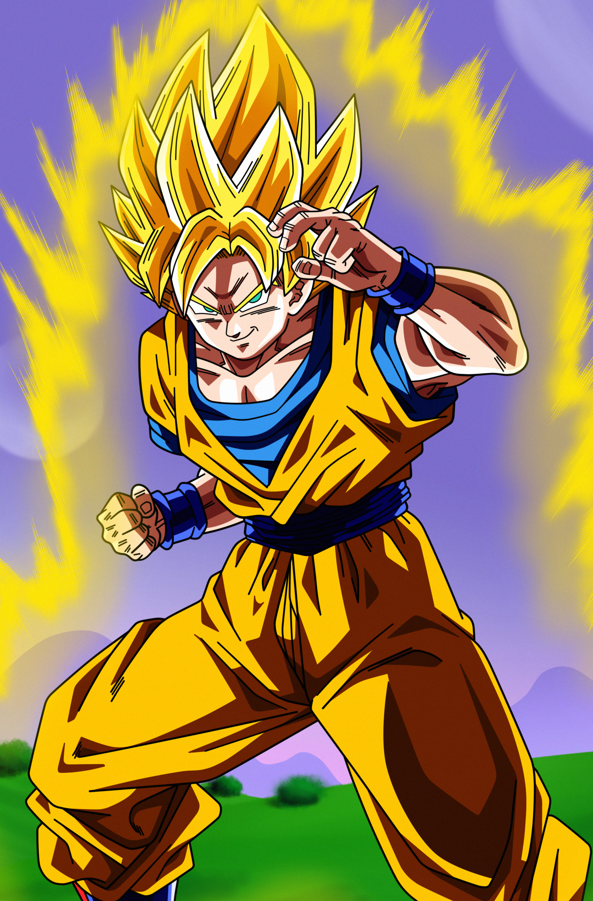 Poster 3 son goku super saiyan by dark crawler on deviantart - Dragon ball z goku son ...