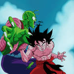 Son Goku Vs Piccolo Jr by Dark-Crawler