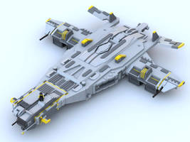 Heavy VTOL Dropship by blueheadx