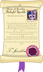 Twilight Sparkle Character Scroll Example