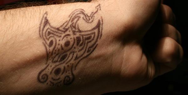 Tribal Manta Ray Tattoo Design by DeathJr89