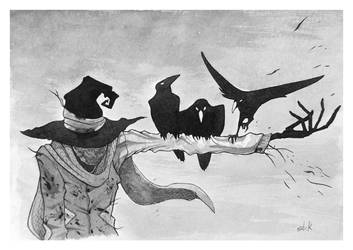 Scarecrow and crows by Mimi1994