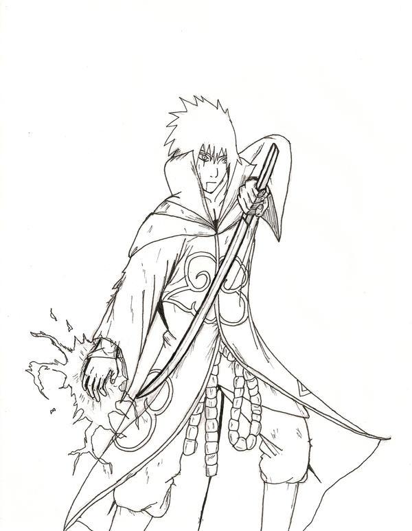Contoh gambar Sasuke Akatsuki