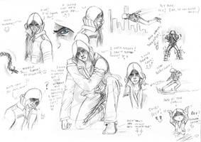 Alex Mercer sketches