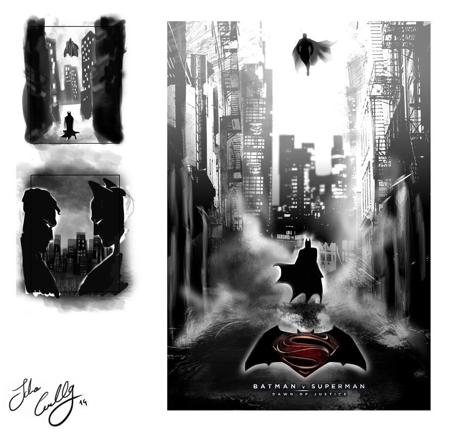 Poster design deviantart - Batman Vs Superman Personal Poster Design By Nocturnadraco