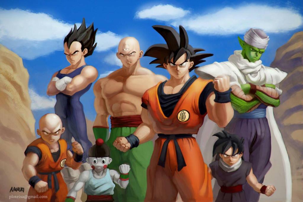 Dragon Ball Z cast by jramauri by ploteixa