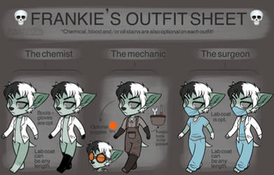 Frankie's Alt. Outfits Reference Sheet