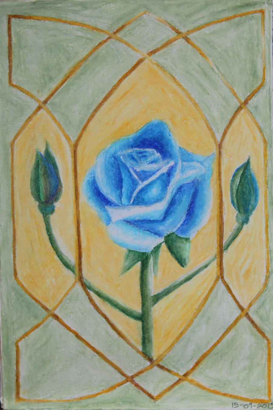 The blue rose of hope by African-Amber