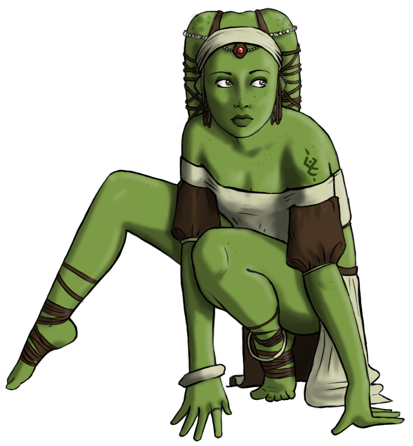 Twi'lek Lady by Girl-on-the-Moon