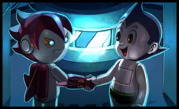 astro boy and cyborg J