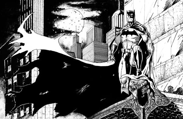Batman black and white by diabolicol