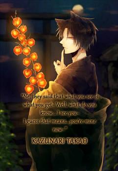 Pick-up Line: Takao Kazunari