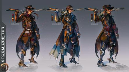 Wild West Fantasy Gunslinger - Costume Concept Art