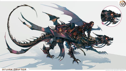 Steel Spineback Dragon Mount