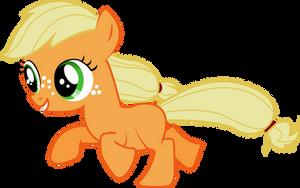 Filly Applejack by Silentmatten