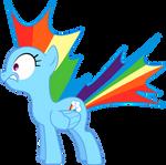 Startled Rainbow Dash