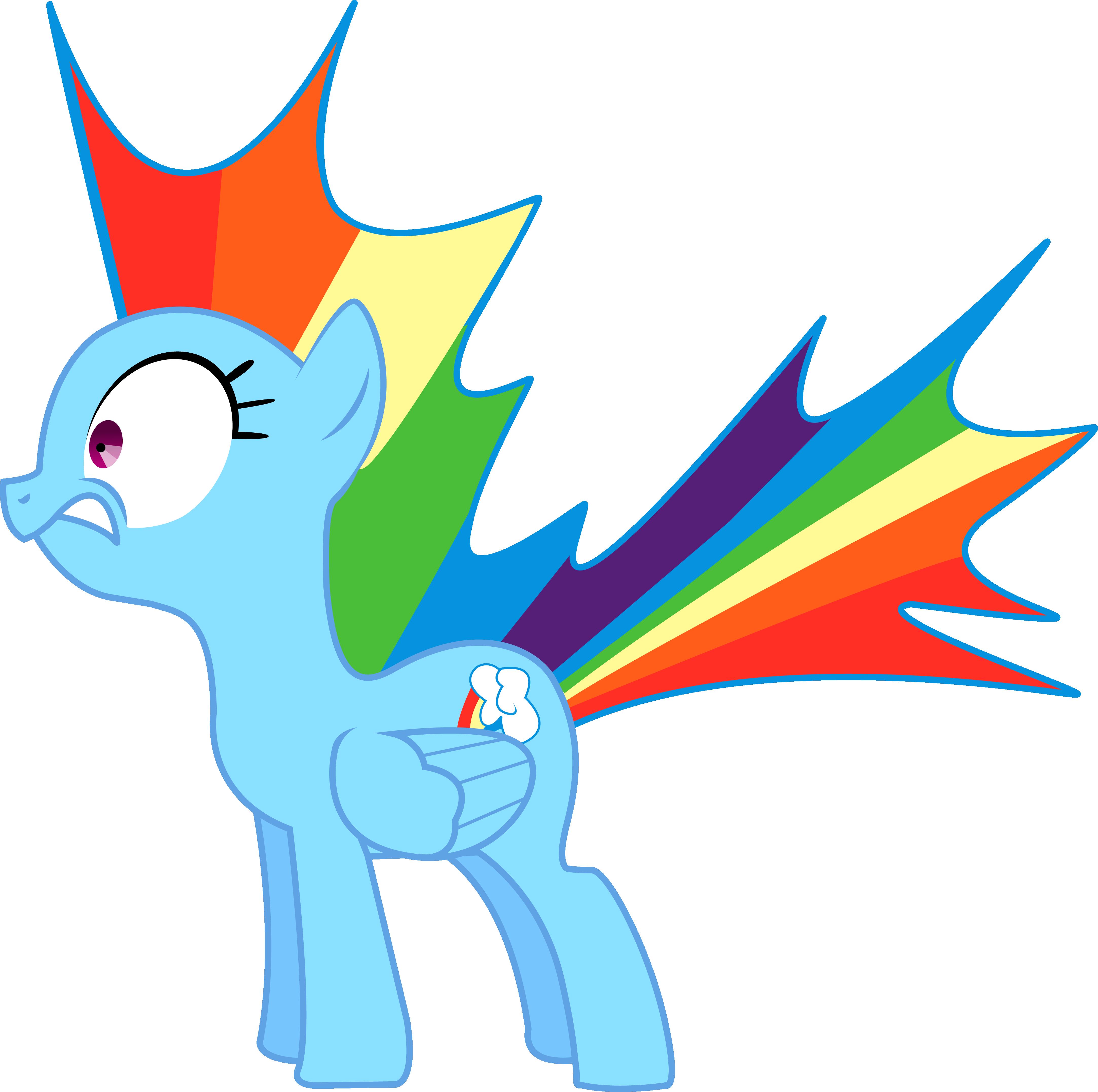 Startled Rainbow Dash By Silentmatten
