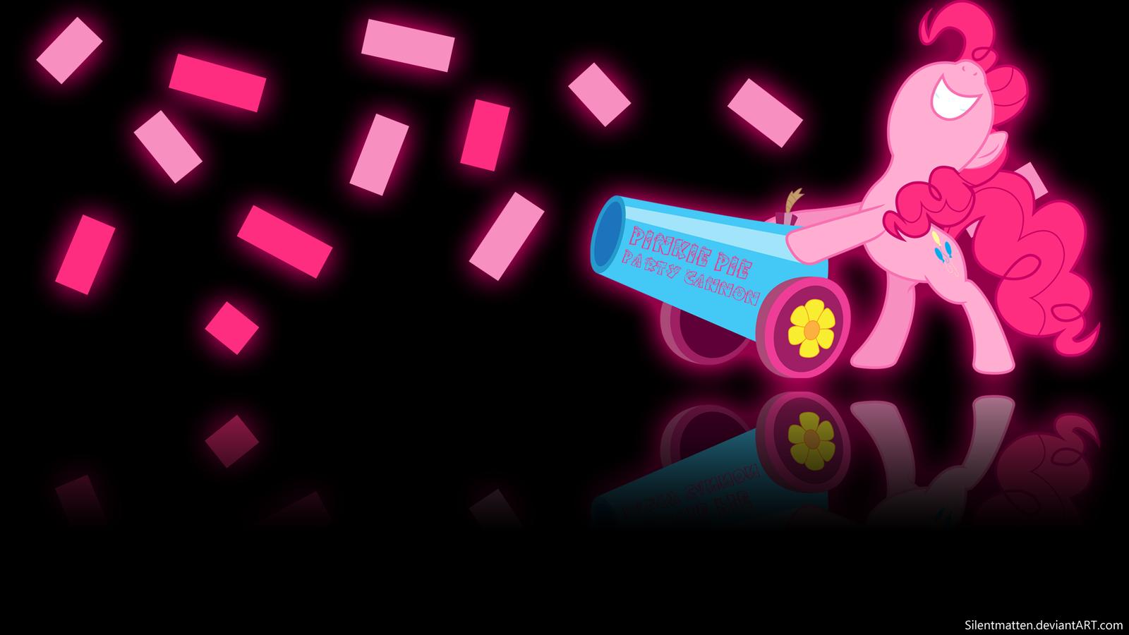 Pinkie Pie's Party Cannon Wallpaper by Silentmatten