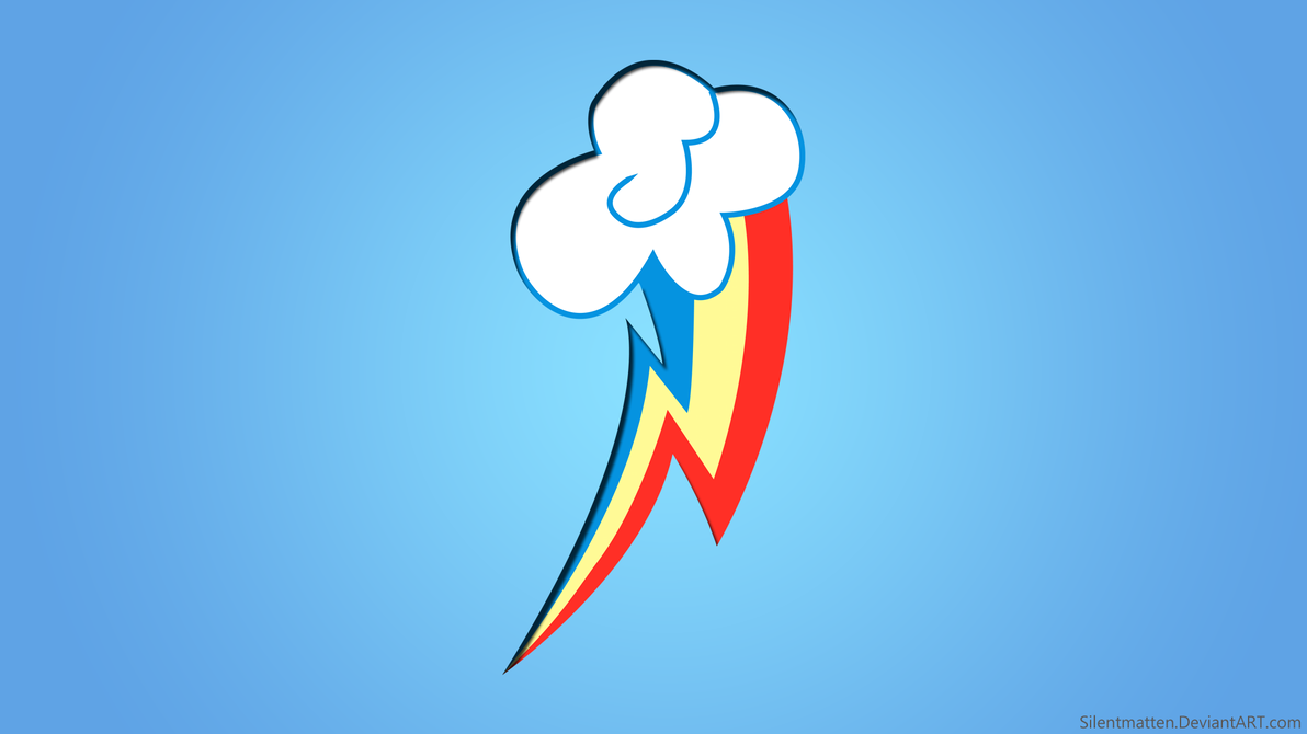 Rainbow Dash Cutie Mark Wallpaper by Silentmatten