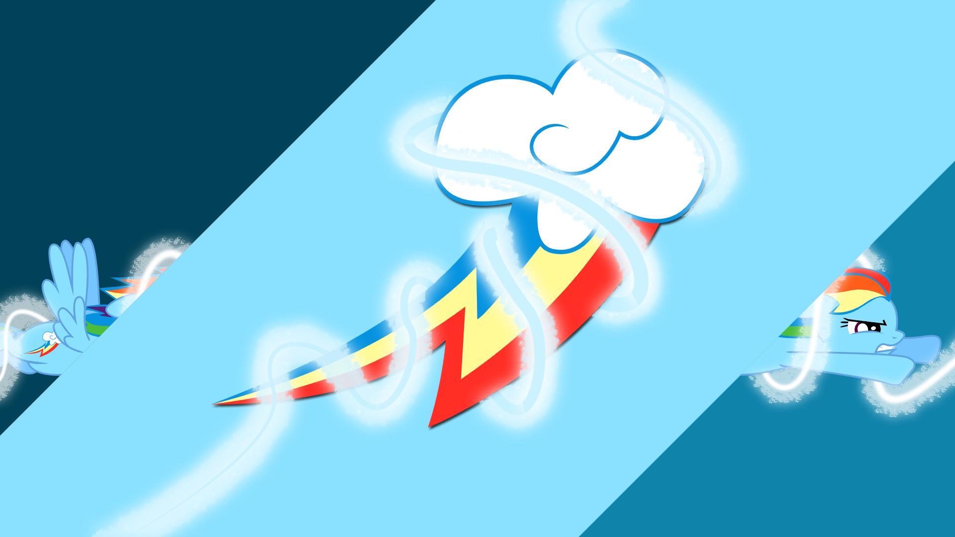 Rainbow Dash Energy Spirals by Silentmatten